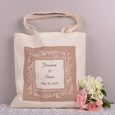 Chocolate Classic Board Save The Date Personalized Tote Bag