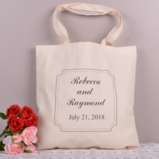 Classic Frame Save The Date Personalized Tote Bag