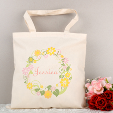 Colorful Wedding Flower Personalized Tote Bag