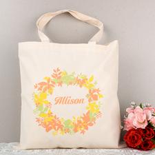 Elegant Wedding Flower Personalized Tote Bag