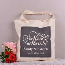 Personalized Mr. And Mrs. For Wedding Tote Bag