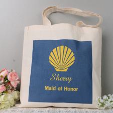 Seashell Wedding Personalized Tote Bag