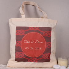 Personalized The Knot Tote Bag