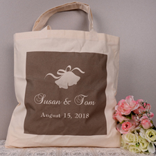 Personalized Wedding Bell Tote Bag