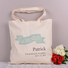 Personalized Wedding Tote For Groomsman Tote Bag