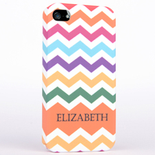 Personalized Matte Colors Chevron iPhone 4 Hard Case Cover