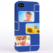 Personalized Navy 3 Collage iPhone 4 Hard Case Cover