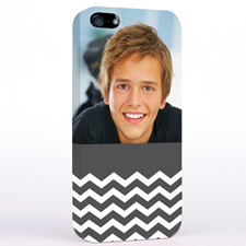 Grey Chevron Photo iPhone 5
