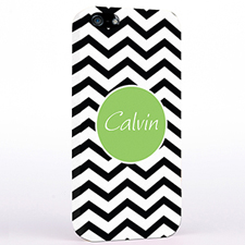 Personalized Black Chevron iPhone Case