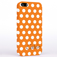 Personalized Orange Polka Dots iPhone Case