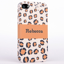 Personalized Leopard Pattern iPhone 4 iPhone Case
