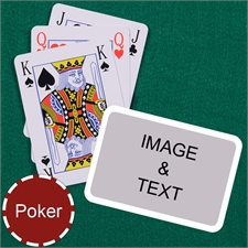 Poker Bridge Style White Border Landscape Playing Cards