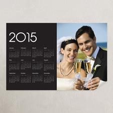 Black Portrait Photo 11x14 Poster Calendar 2015