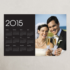 Black Portrait Photo 12x18 Poster Calendar 2015