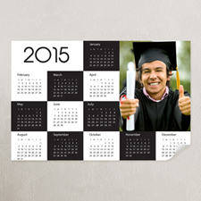 Black & White Portrait Photo 12x18 Poster Calendar 2015