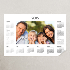White Landscape Photo 11x14 Poster Calendar 2015
