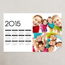 White Landscape Three Collage 11x14 Poster Calendar 2015