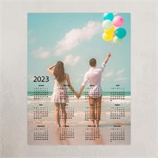 Grey Portrait 11X14 Photo Poster Calendar 2018