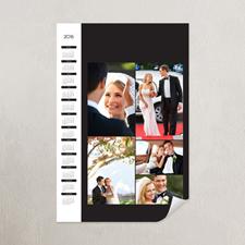 Classic Black Portrait Five Collage 18x24 Poster Calendar 2015
