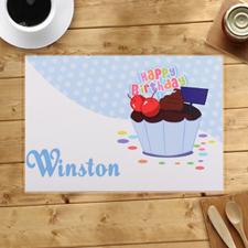 Boy First Birthday Cupcake
