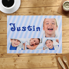 Personalized Blue Stripes Placemats