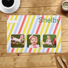 Personalized Colorful Stripes Placemats