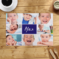 Personalized Navy Eight Collage Placemats