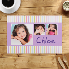 Personalized Kids Stripes Pattern Placemats