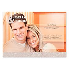 Personalized Silver Glitter Wedding Announcement Invitation Card