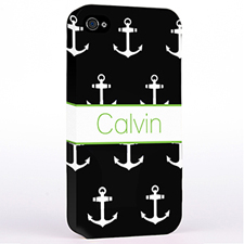 Personalized Black And White Cute Anchors Hard Case Cover