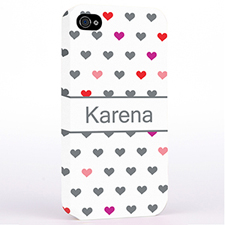 Personalized Colorful Small Hearts Hard Case Cover