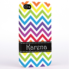 Personalized Colorful Chevron Hard Case Cover