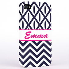 Personalized Black & White Chevron Ikat Hard Case Cover