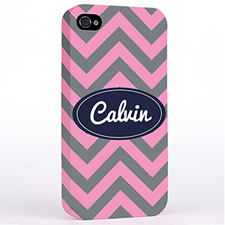 Grey Pink Chevron