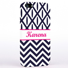 Personalized Black & White Chevron Ikat iPhone Case