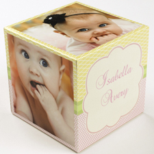 Birthday Girl Wood Photo Cube, 5 panels