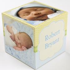 Engraved Birthday Boy Wood Photo Cube