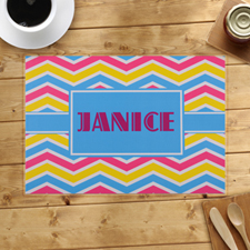 Personalized Chevron Pattern Placemats