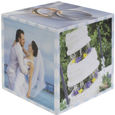 Wedding Anniversary Photo Cube, 5 panels