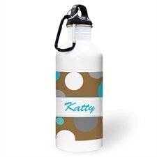 Personalized Photo Boy Polka Dots Water Bottle