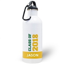 Personalized Photo Yellow Class Of 2018 Water Bottle