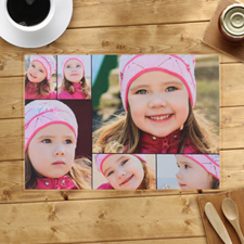 Personalized Black Six Collage Placemats