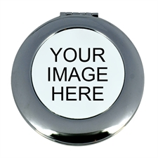 Personalized Custom Imprint Round Make Up Mirror