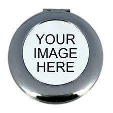 Personalized Custom Imprint Round Make Up Mirror