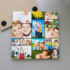 Personalized Thirteen Collage Tile Coaster
