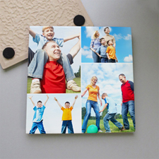 Personalized Classic Four Collage Tile Coaster