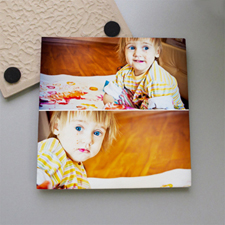 Personalized Two Collage Tile Coaster