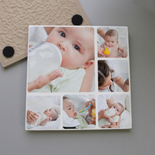 Personalized Six Collage Tile Coaster