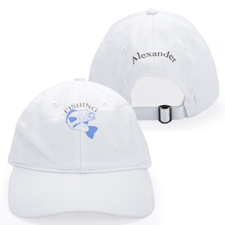 Custom Full Color Print Front And Back Baseball Cap, White