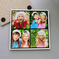Personalized Instagram Four Collage Tile Coaster